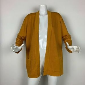 Anne Klein Sweater Cardigan Malibu Yellow Sz XL
